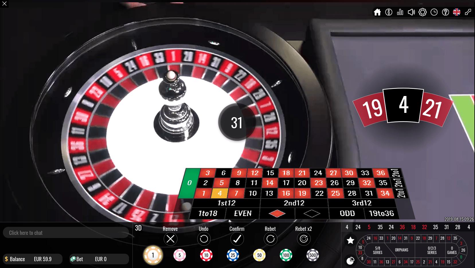 Casinos vivo gaming bets 286018